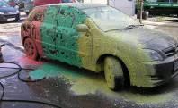 شامپو اتومبیل کارواش با کف رنگی